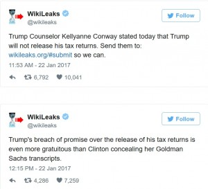 Source: WikiLeaks Twitter