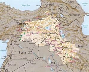 Курдское население на Ближнем Востоке
