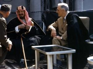 Встреча Рузвельта и Ибн-Сауда