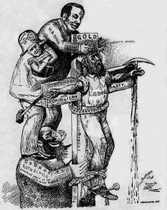 Антисемитская карикатура из популистского издания