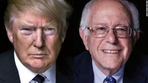 Бёрни Сандерс и Дональд Трамп